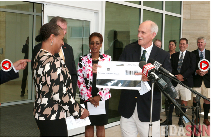 KEMH in Bermuda ceremony to hand over the hospital